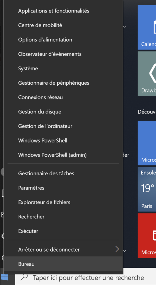 Ouvrir console PowerShell